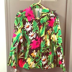 Chico's Multicolored Floral Blazer Size 2